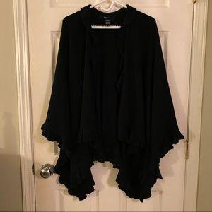 Black poncho sweater